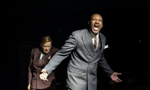 Lenny Henry (Arturo Ui) and Lucy Ellinson (Giri) in The Resistible Rise of Arturo Ui at the Donmar Warehouse, London