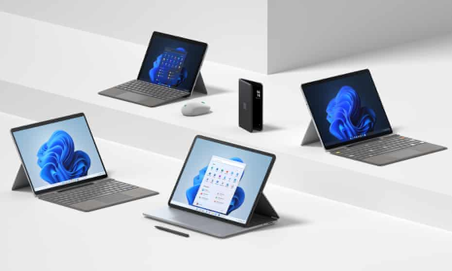 Microsoft Surface Go 3, Surface Duo, Surface Pro X, Surface Pro 8 and Surface Laptop Studio