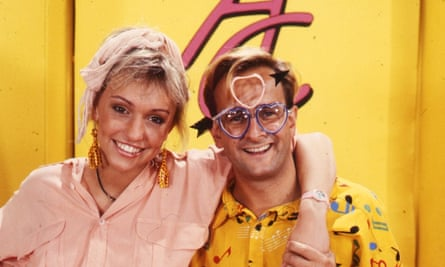 'The mallett has probably bashed several million heads by now' … Michaela Strachan and Timmy Mallett in 1989