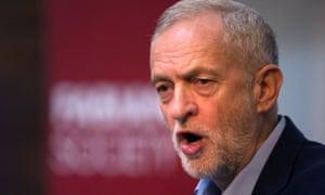 Jeremy Corbyn speaks at the Fabian Society
