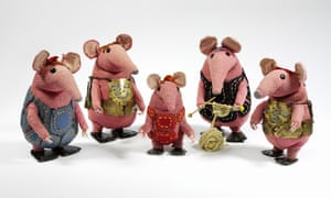 'I did the drawings and Joan worked out the knitting patterns from the drawings': the original Clangers, now at the V&A.