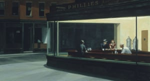 Edward Hopper's 1942 painting Nighthawks.