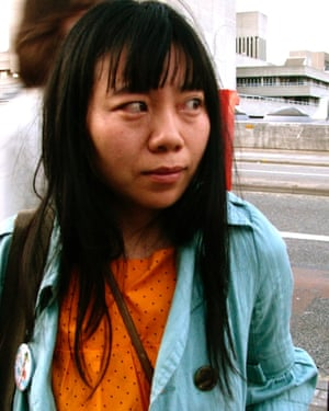 Xiaolu Guo at the Southbank centre in London