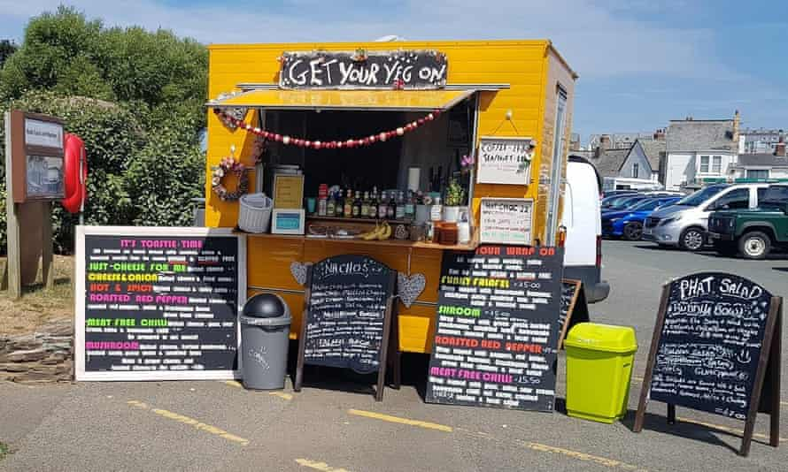 Get Your Veg On, a street-food stall in Bude, Cornwall, UK.