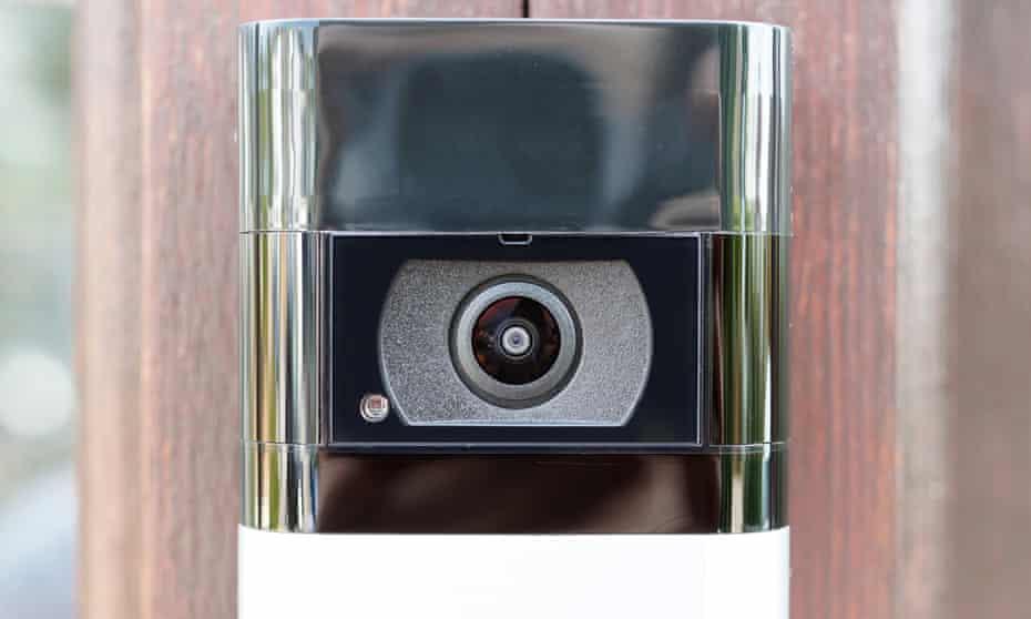 One of Amazon's Ring video doorbells.