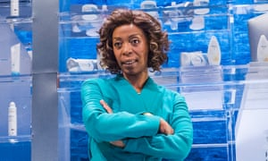 Noma Dumezweni in the title role of the Royal Court production Linda in December, 2015.