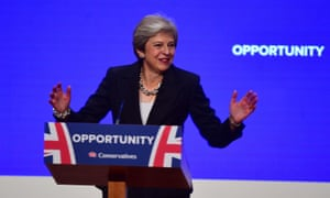 Theresa May makes her speech at the Conservative Party annual conference