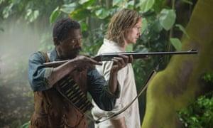 Samuel L Jackson and Alexander Skarsgård in The Legend of Tarzan.