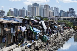 Duterte's drugs war in the Manila slums is increasingly seen as a war on the poor. Photograph: Noel Celis/AFP/Getty Images)