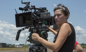 Rachel Morrison, the first woman Oscar-nominated for cinematography, on the set of Mudbound.
