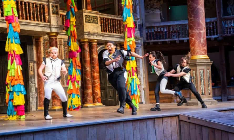 Fast and loose ... Ciarán O'Brien, Shona Babayemi, Nadi Kemp-Sayfi and Bryan Dick in A Midsummer Night's Dream.