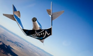 Virgin Galactic's Virgin Spaceship Unity on a test flight from Mojave, California, to the edge of space