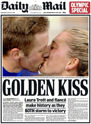The Daily Mail's Jason Kenny and Laura Trott front page