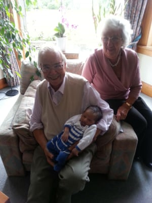 Henry and Ingrid Wuga with Chitra Ramaswamy's baby