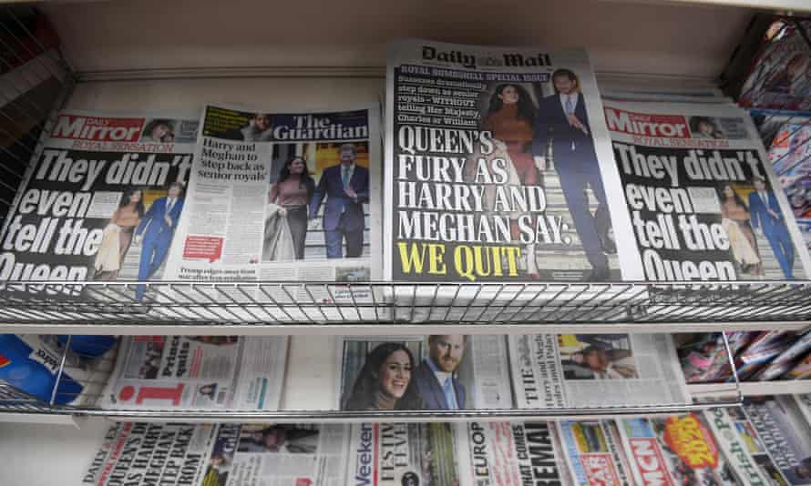 The front pages of British newspapers on 9 January.