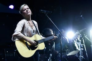 'We need to find someone like this!' … Dido on stage in Paris this month.