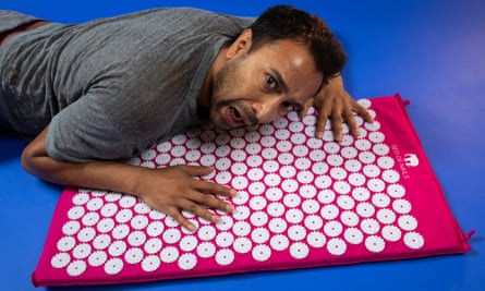 'It looks like a troubled soul has arranged 20 rows of upturned beer caps on a lilo.'