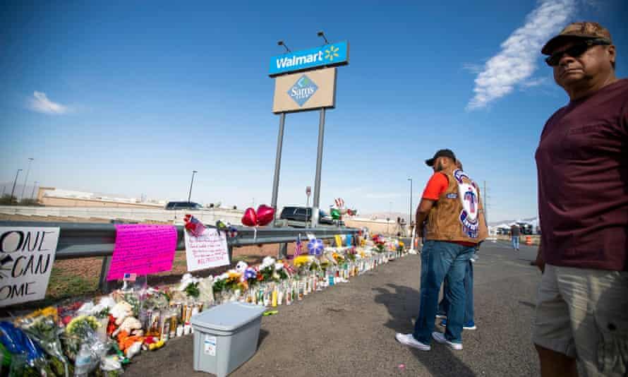 A memorial for the victims of the El Paso shooting in El Paso, Texas.