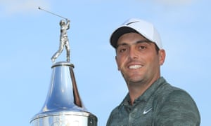 Francesco Molinari  with the trophy after winning the Arnold Palmer Invitational, his second PGA Tour victory in eight months.