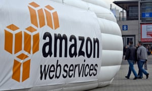 Amazon Web Services inflatable display at a trade fair