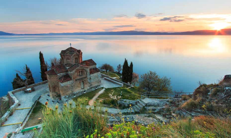 The church of Sveti Jovan on the cliffs at Kaneo, Lake Ohrid