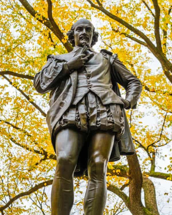William Shakespeare statue in Central Park. Photograph: Tetra Images/Corbis