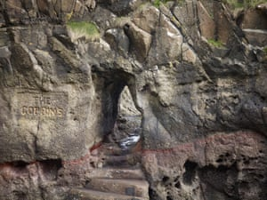 Wise's Eye, a tunnel bored into the cliffs at the Gobbins.