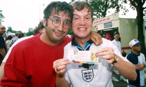 With Frank Skinner during the heady days of Euro 96.