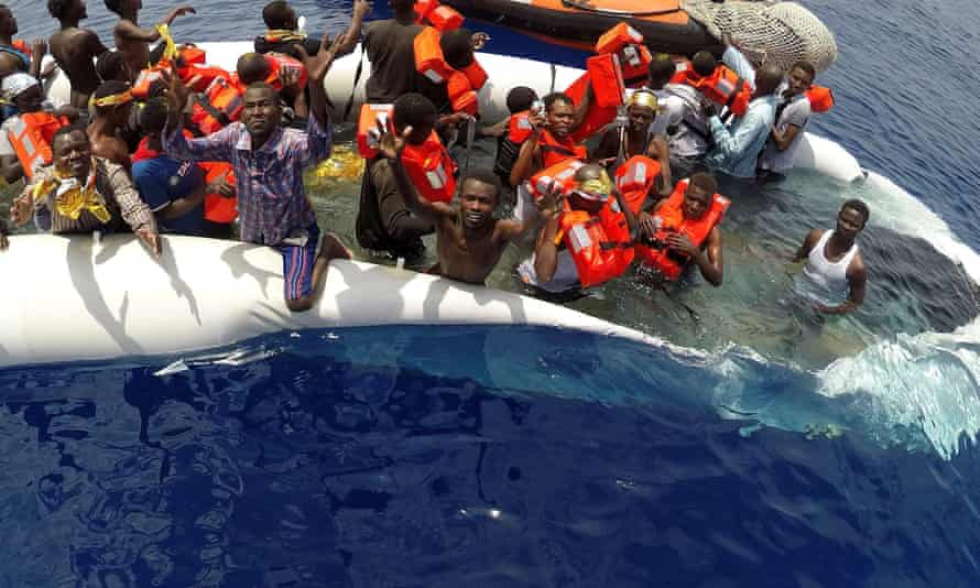 Migrants rescued by Save the Children's Vos Hestia