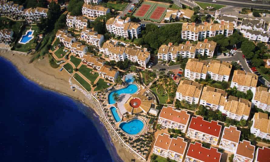 Holiday apartments between Marbella and Malaga on Spain's Costa del Sol.