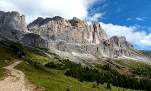 Path to safety … the Dolomites, haven for refugees in the second world war.
