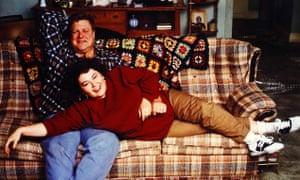 Roseanne Barr with John Goodman.