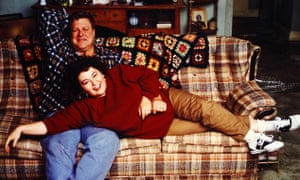 'Warm, edgy, funny': Roseanne Barr and John Goodman in the original 1990s series of Roseanne.