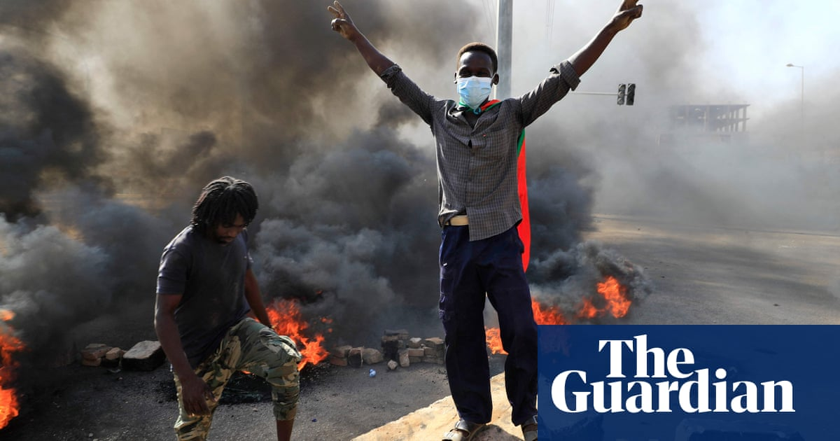Protesters march in Khartoum after Sudan's military launches coup – video