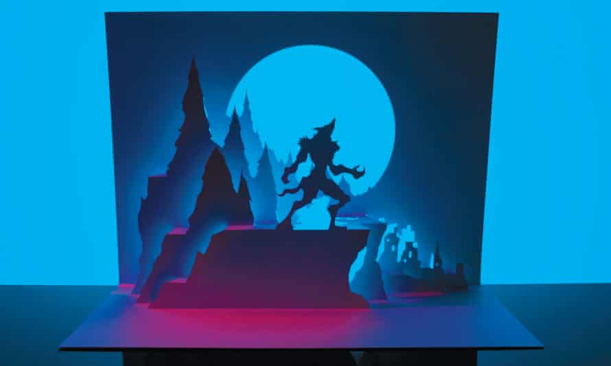 Howler, from Marc Hagan-Guirey's new book, Horrorgami