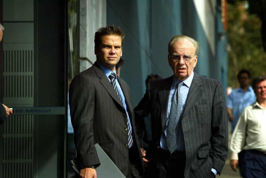 Lachlan and Rupert Murdoch