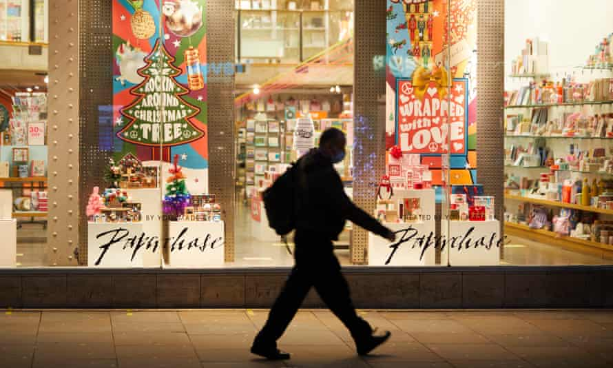 Paperchase store at Christmas in Manchester