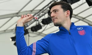 180! Harry Maguire gets his eye in at St George's Park.