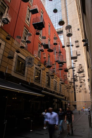 Forgotten Songs artworks in Sydney, Australia, commemorating the songs of fifty birds once heard in central Sydney.