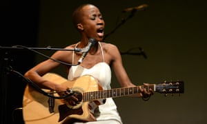 Malian singer/songwriter Rokia Traoré in performance for Desdemona, part of this year's Melbourne and Sydney festivals