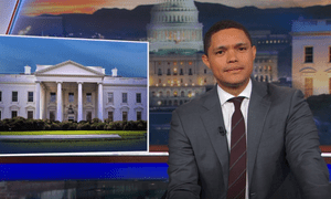 'For someone who would have won the popular vote, it sure seems like Trump is unpopular' ... Trevor Noah