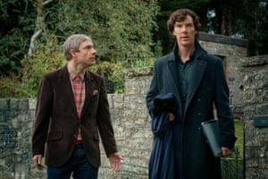 Martin Freeman and Benedict Cumberbatch in Sherlock.