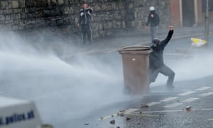 Water cannon were approved for use in Northern Ireland (here in Belfast in July 2013) but not in the rest of the UK.