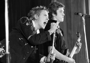 Johnny Rotten and Steve Jones of the Sex Pistols.