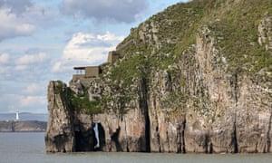 Steep Holm Island, UK.