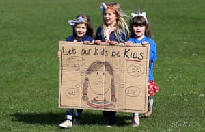 Children protest at Sats tests for six and seven-year-olds in Brighton in 2016.