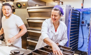 Night worker Sally Hincliffe working at Bond Gate Bakery in Otley