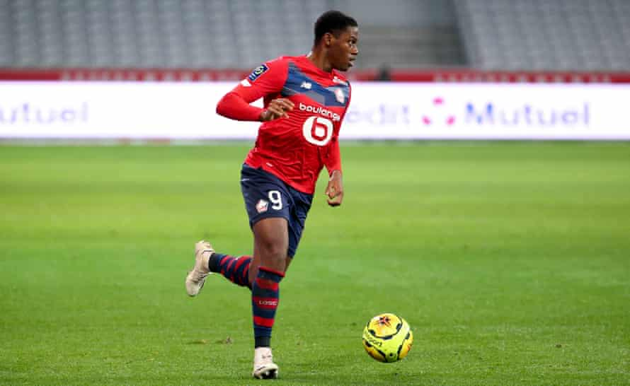 Jonathan David scored his first goal of the season in Lill'e 4-0 win over Lorient this weekend.