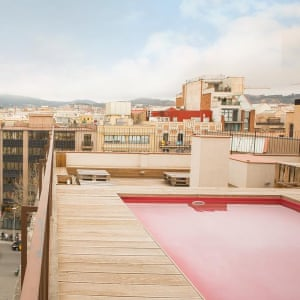 Outdoor pool at Yeah Barcelona Hostel. TRAVEL DESK ONLY