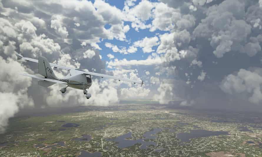 A storm above Florida ... Flight Simulator